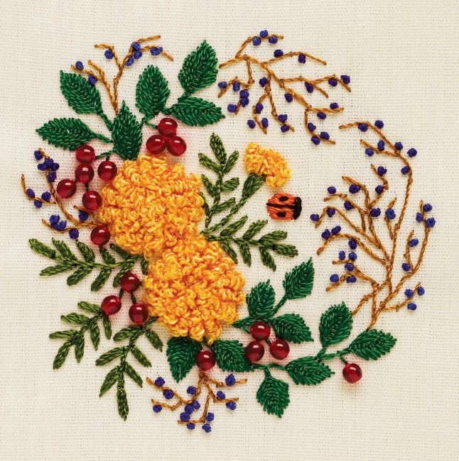 Hand Embroidery Patterns U2013 Needleu2019nThread.com - Beautiful Combination Of Thread And Beads ...