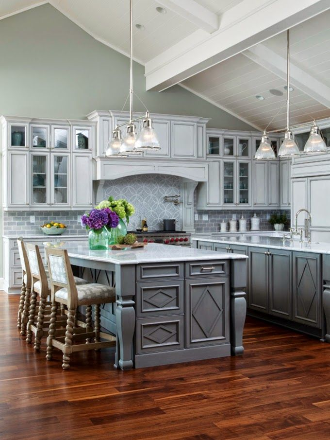 17 Best ideas about Vaulted Ceiling Kitchen on Pinterest   High ceilings,  High ceiling lighting and Wood beams