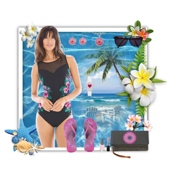 A fashion look by www.zazzle.com/htgraphicdesigner* #polyvore #fashion #summer #beach #swimsuit