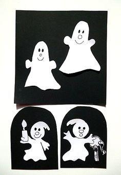 Gespenster- und Geisterschloss fürs Fenster - Halloween-basteln - Meine Enkel und ich - Made with schwedesign.de