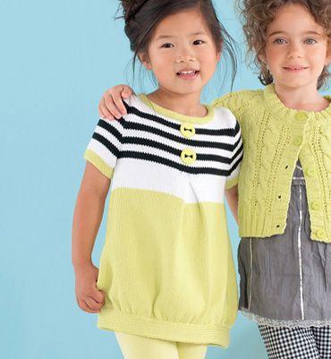 Modèle robe tunique - Modèles tricot enfant - Phildar