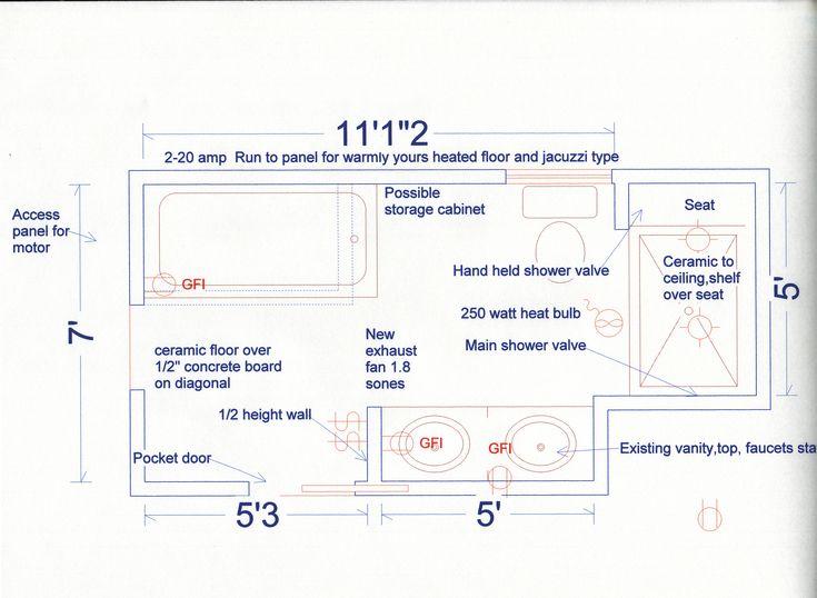 Small Master Bathroom Floor Plans