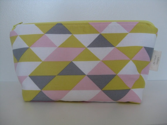 On Point Geometric Cosmetic Pouch by LittleFawnDesigns on Etsy, $22.00  'I heart #littlefawndesigns'