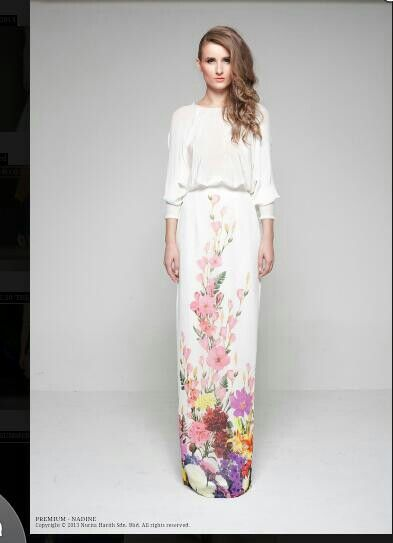 Love this modern take of the baju kurung by nurita harith