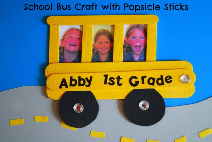 #school bus #popsicle stick #craft for kids-002