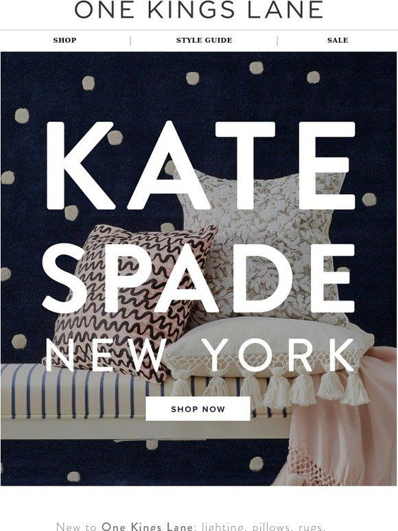 What's new? kate spade new york! - One Kings Lane
