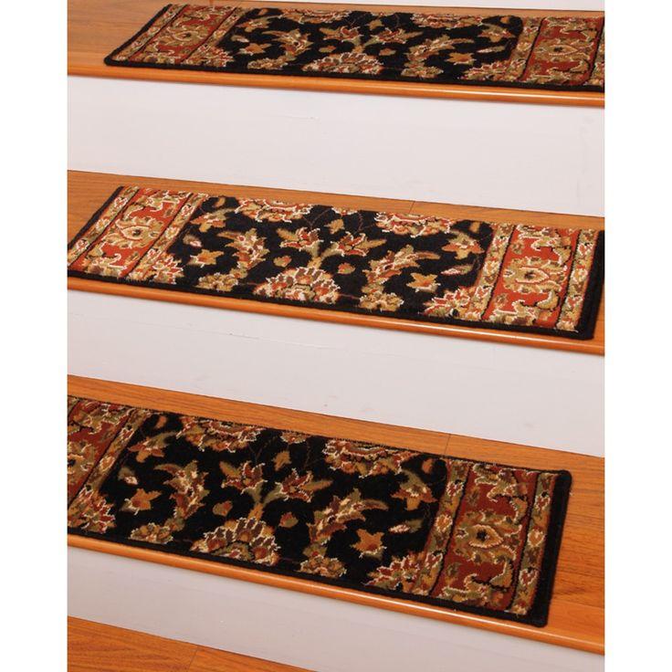 Best Handcrafted Sydney Carpet Black Stair Treads 9 X 29 400 x 300