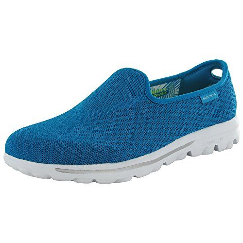 Skechers Go Walk Blend Womens Slip On Sneakers Turquoise 8 *** Be sure to  check out this awesome product.