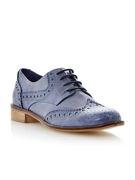Langbury leather almond toe brogue shoes