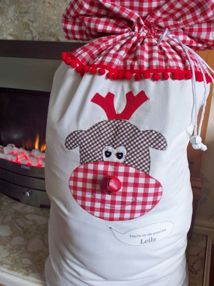 Santa sack personalized boy santa sack girl santa by heartybags, $34.00