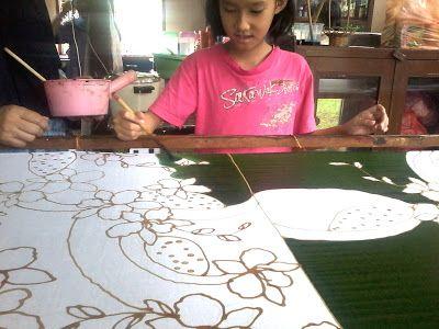 BATIK CANTING: kelas mencanting batik