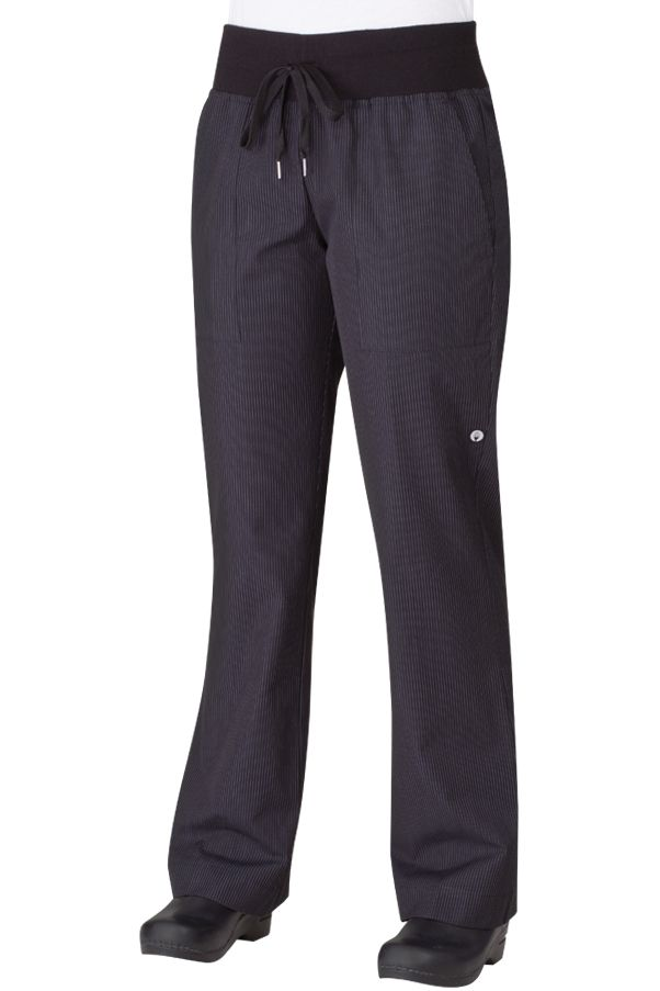 Women's PINSTRIPE Comfy Chef Pants $44.95 from ChefsEmporium.net