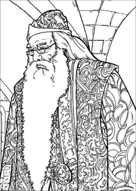 Old Wizard Harry Potter Old Wizard Coloring Pages