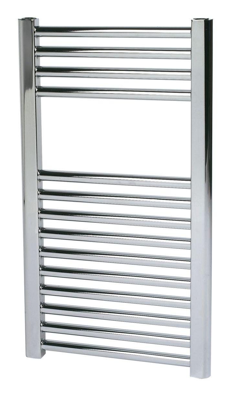 Kudox Flat Towel Warmer Chrome (H)700 (W)400mm | Departments | DIY at B&Q