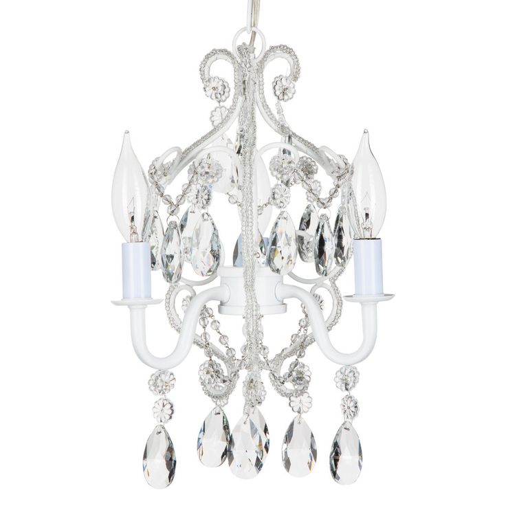 49 best shop crystal chandeliers by amalfi dcor images on 3 light mini crystal beaded plug in chandelier white aloadofball Gallery