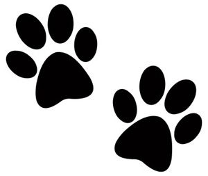 Two Dog Paw Prints - Clip Art Pictures of Dogs