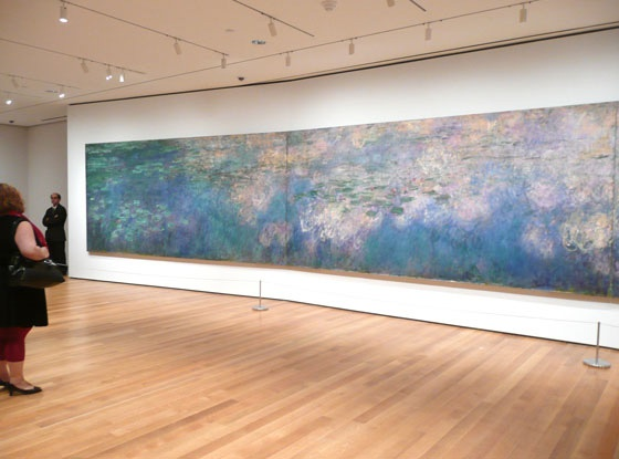 Claude Monet. Water Lilies (triptych). 1914-26 .  Viewing this in person was the 1st time art moved me.