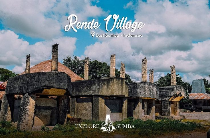 Megalithic graves at Rende village, East Sumba