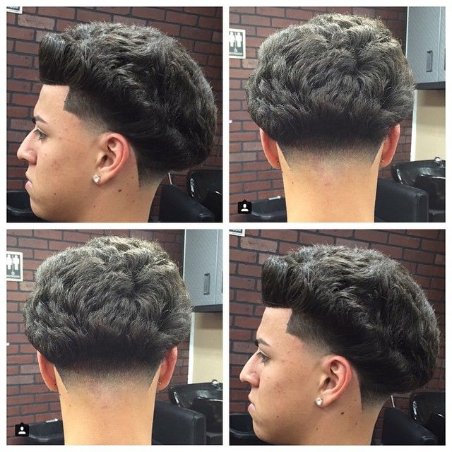 how to get a curly hair blowout fade