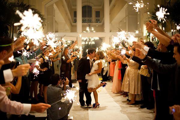 36 Gold Wire Sparklers Wedding Sparkles