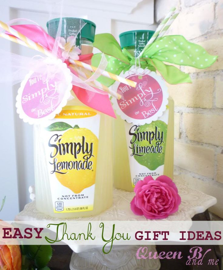 Use individual serving size for Teacher Appreciation Week or just as a Thank You Gift Idea {EASY}