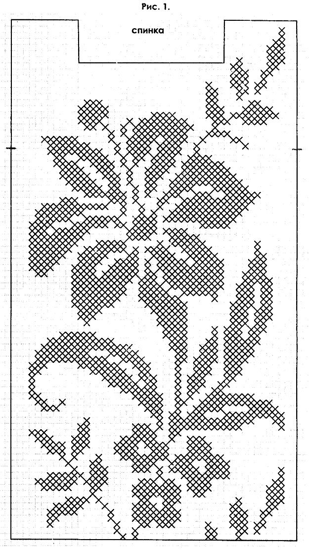 Филейное вязание цветка