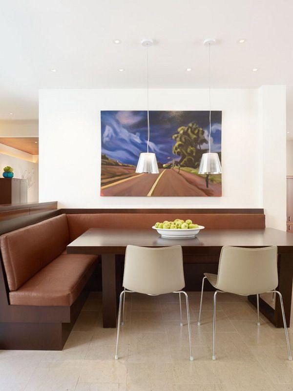 Beautiful Contemporary Corner Dining Room Decorating