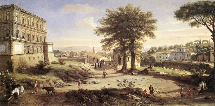 WITTEL, Caspar Andriaans van - Villa Farnese at Caprarola 1720-25 Oil on wood, 98 x 174 cm Private collection. www.wga.hu