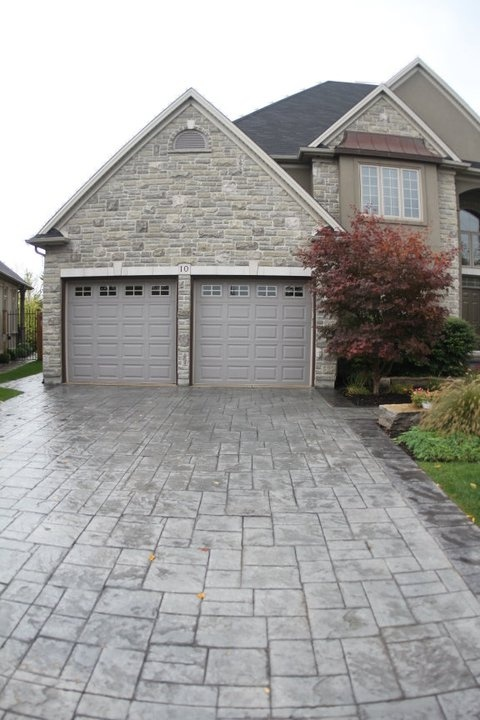 Stamped Concrete Garage : Best ideas about stamped concrete driveway on
