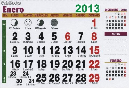 calendarios para imprimir con santoral 2013 re downloads com