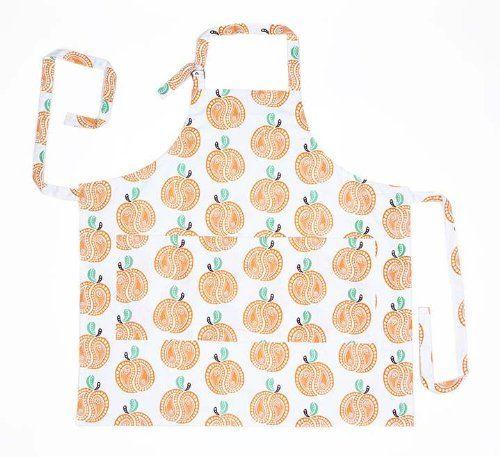 Working Class Studio The Savannah Paisley Collection Peach Kitchen Apron