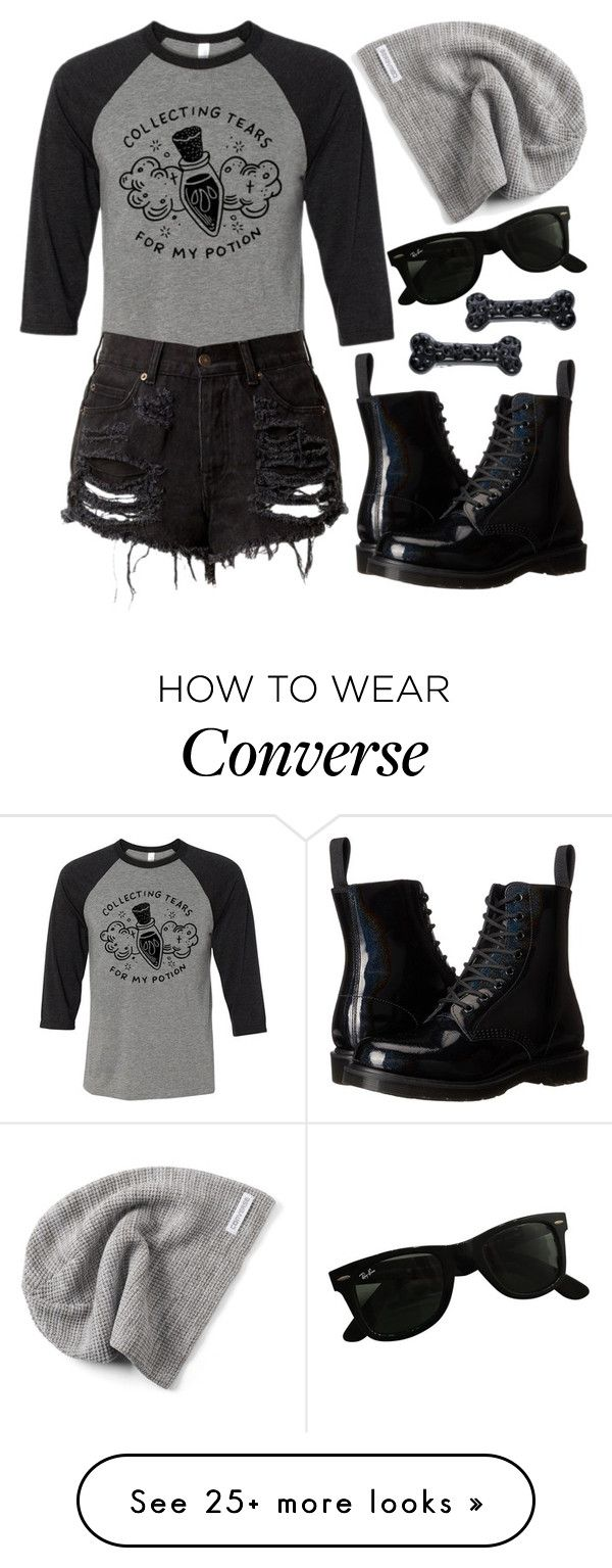 """""""Tees and Tank You"""" by mrs-rc on Polyvore featuring Dr. Martens, Converse, Kreepsville 666, Ray-Ban and teesandtankyou"""