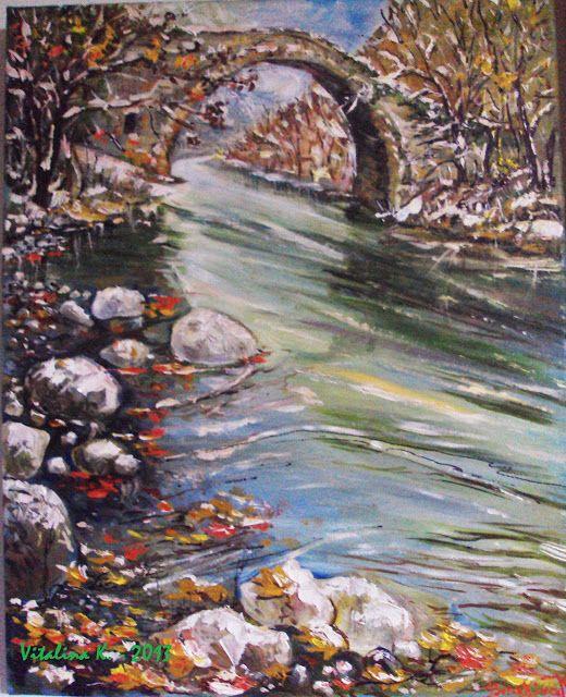 Vitalina K. Samosvat - Art: Δίπλα στα κρύα τα νερά
