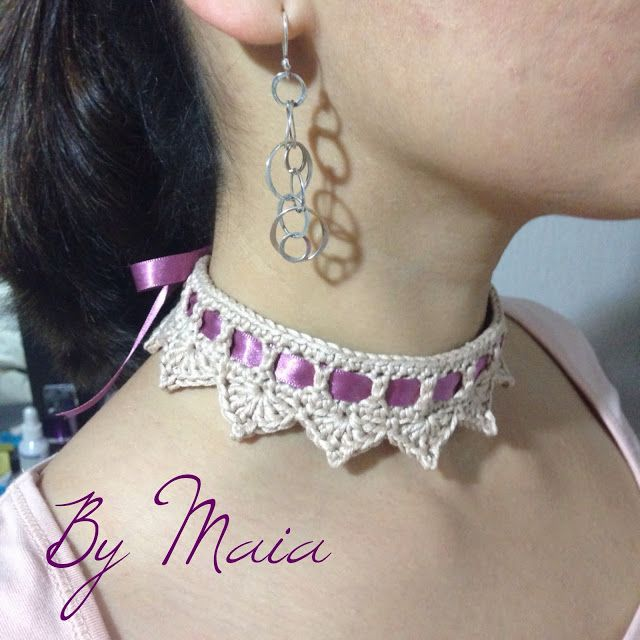 I 'm very happy with my new choker, it can also  be  a baby crown :)          For the ones who wonder how I did it, this is my diagram (sor...