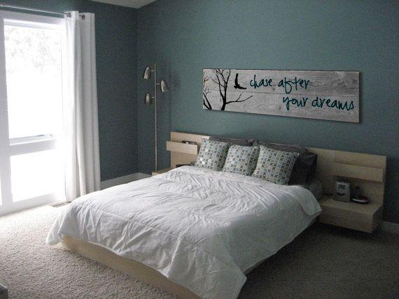 Courir après vos rêves. Peinture sur Art murale par TKreclaimedART
