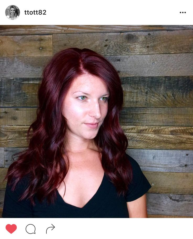 #taylormadehair Taylor Roberts (@ttott82) Halcyon Salon & Spa (@salonhalcyon) deep red, red, hair, Aveda