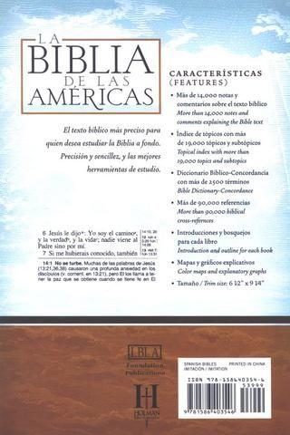 Profundice en la Palabra de Dios con la Biblia de Estudio LBLA, una edición durable de letra negra grande que incluye millaresde notas temáticas aclaratorias, términos y referencias cruzadas.