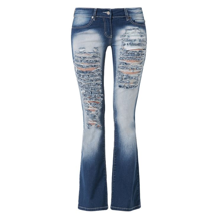 Ripped Bootcut Jeans For Women - Legends Jeans