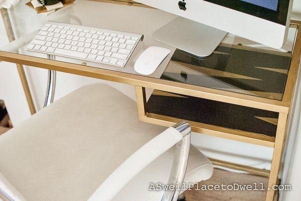 RM149 Ikea Vittsjo Laptop Table Hack #Ikea #gold #DIY