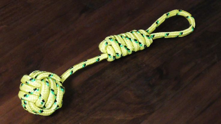 Learn How to tie the Monkeys fist or monkey paw knot in this step by step tutorial. Can be a useful knot for making dog/cat toys. Can be use as a heaving lin...