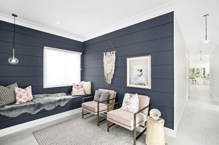 Foyer Cladding Colour | Gravel Taubmans Cladding | Scyon Stria Internal Walls Colour | Snow Drop Taubmans