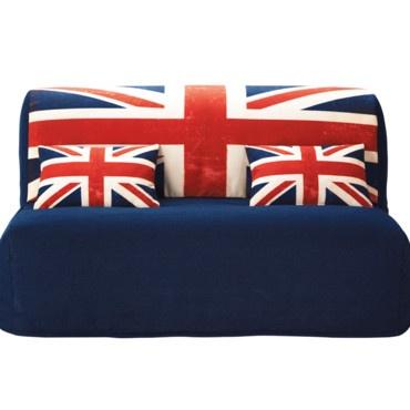déco british : le drapeau Union Jack du sol au plafond !