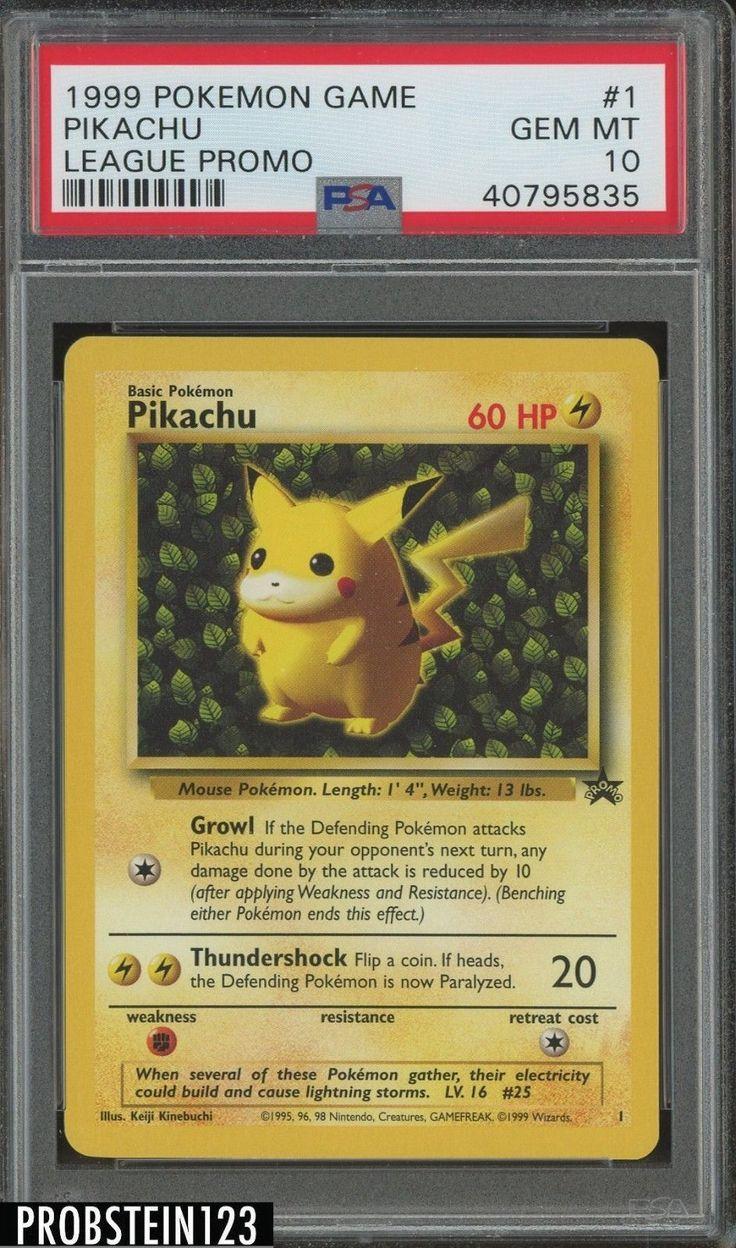 1999 pokemon game league promo 1 pikachu psa 10 gem mint