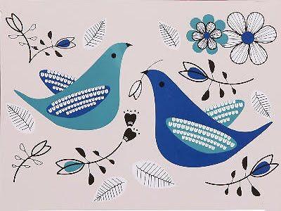 print & pattern blog features love birds kitchen range for tesco