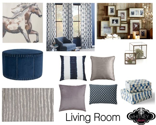 Wonderful Online Decorating Services, Showcasing A Recent Project: Gray And Blue  Living Room And Bedroom Design Boards With Transitional Design Style.