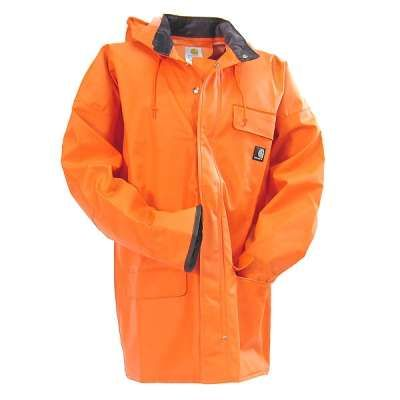 Carhartt Clothing Men's Orange Surrey Waterproof Rain Coat 100100 800