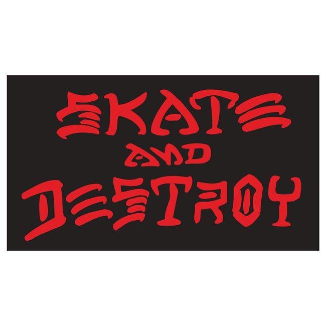 Skate And Destroy Sticker (Large)