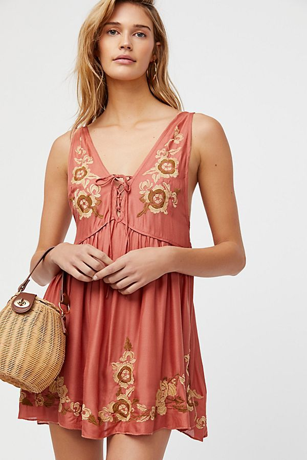 be3a155be6d2c Embroidered Aida Slip | Dressing | Slip on, Free people dress, Fashion