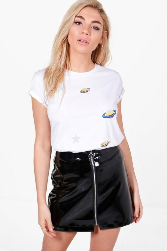 Bella Space Embroidered T Shirt £6.40