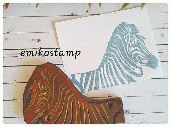 Check out this item in my Etsy shop https://www.etsy.com/listing/491346378/xl-zebra-rubber-stamphorse-hand-carved